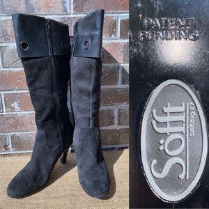 SOFFT Black Knee High Heel Boot 10
